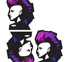 Punk in Violets and Blues by hartzelldesign
