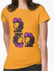 Punk in Violets and Blues Womens Fitted T-Shirt
