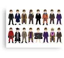 The Doctor's Wardrobe - Ten Canvas Print