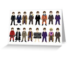 The Doctor's Wardrobe - Ten Greeting Card