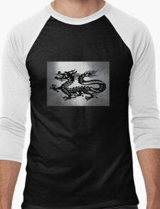 Vintage Metal Dragon Men's Baseball ¾ T-Shirt