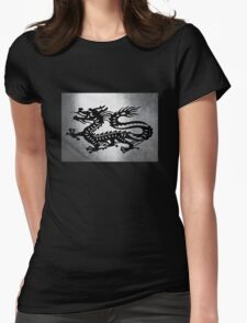 Vintage Metal Dragon Womens Fitted T-Shirt