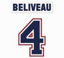 Jean Beliveau #4 - white jersey by ianscott76