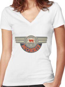 Vintage Morris Motors  Women's Fitted V-Neck T-Shirt