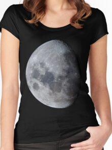 January Gibbous Moon Women's Fitted Scoop T-Shirt