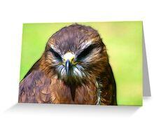 Fractual Falcon Greeting Card