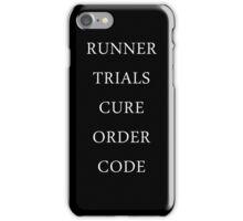Maze Runner Titles iPhone Case/Skin