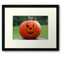 Happy Pumpkin Framed Print