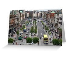 O' Connell Street. Greeting Card