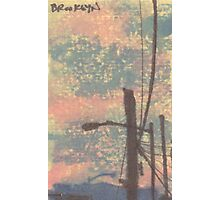 telephone wires and lamp Photographic Print