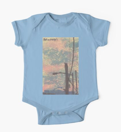 telephone wires and lamp One Piece - Short Sleeve