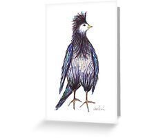 That crown of feathers. Greeting Card