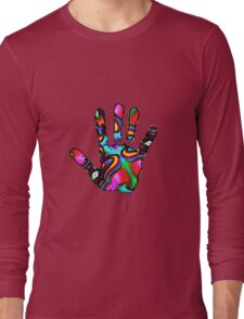Psychedelic Hand Print 2 Long Sleeve T-Shirt