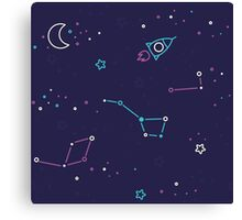 Let's discover the Universe! Adventure time doodle space image.  Canvas Print
