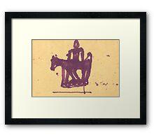 stick figure man Framed Print