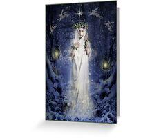 Yule Goddess Greeting Card