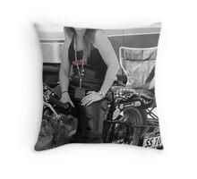 Julia Holliday AHDRA  Bike # SS - 10 Throw Pillow