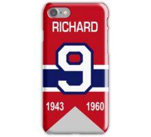 Maurice Richard - retired jersey #9 iPhone Case/Skin