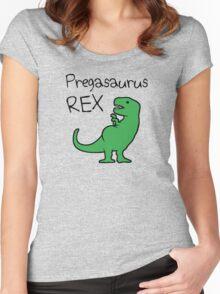 Pregasaurus Rex Women's Fitted Scoop T-Shirt