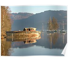 Boat on Loch Ness Poster