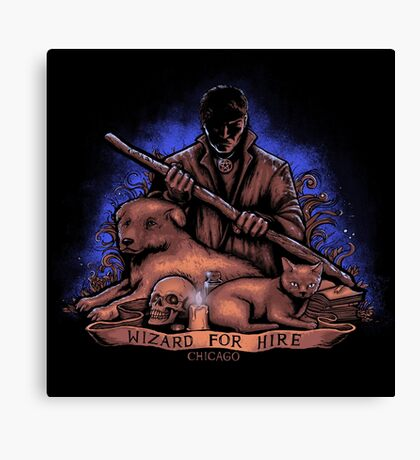 Wizard For Hire Canvas Print