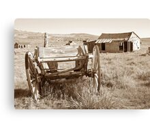 Old Wagon in Bodie Ghost Town Canvas Print