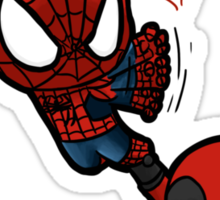 spidey and pool Sticker
