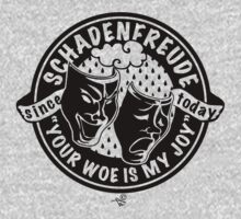 Original Schadenfreude logo by Tai's Tees Kids Clothes