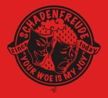 Original Schadenfreude logo by Tai's Tees Kids Clothes