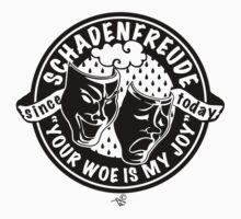 Original Schadenfreude logo by Tai's Tees by TAIs TEEs