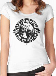 Original Schadenfreude logo by Tai's Tees Women's Fitted Scoop T-Shirt