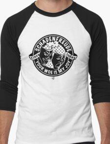 Original Schadenfreude logo by Tai's Tees Men's Baseball ¾ T-Shirt