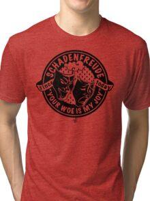 Original Schadenfreude logo by Tai's Tees Tri-blend T-Shirt