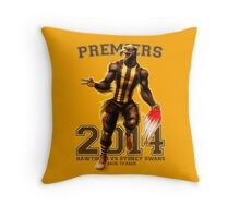'The Mighty Premiers From Hawthorn' 2014 Print By Grange Wallis Throw Pillow