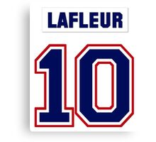 Guy Lafleur #10 - white jersey Canvas Print