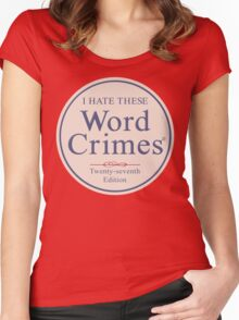 Word Crimes Women's Fitted Scoop T-Shirt