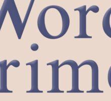 Word Crimes Sticker