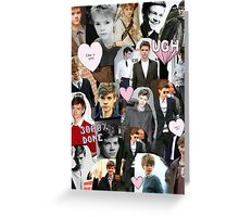 Thomas Brodie-Sangster Collage Greeting Card
