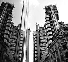 Lloyds Building & its reflection by NrthLondonBoy
