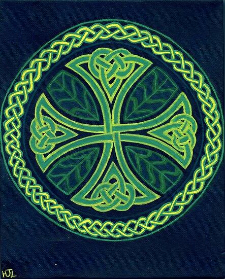 Foliate Cross by earthskyart