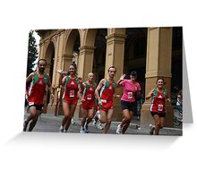 The race Greeting Card