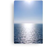 Shining Blue Sea Canvas Print