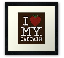 I Love My Captain Framed Print