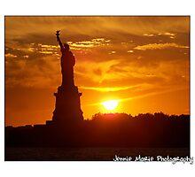 Standing on Liberty Island Photographic Print