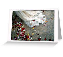 Wedding Dress Detail Dos Greeting Card