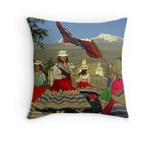 Dansing Childs - Peru Throw Pillow