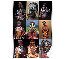 AFRICAN TRIBAL LADIES Poster