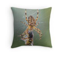 A Bee Meal Throw Pillow