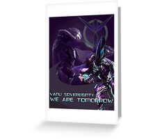 Join the Vanu Sovereignty  Greeting Card