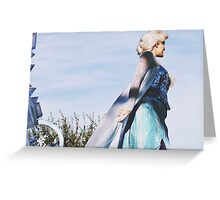 Queen Elsa From Disney's Frozen  Greeting Card
